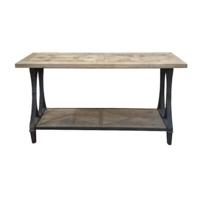 Bourke Reclaimed Elm Timber & Iron Hall Table, 150cm