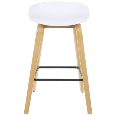 Comfy Counter Stool, White / Natural