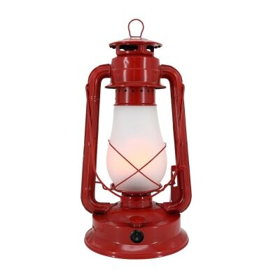 Replica Kerosin Iron & Glass Rechargeable LED Table Lamp, Red
