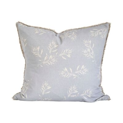 Olive Grove Feather Filled Euro Cushion, Ice Blue