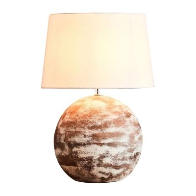 Boule Wooden Ball Table Lamp, Small