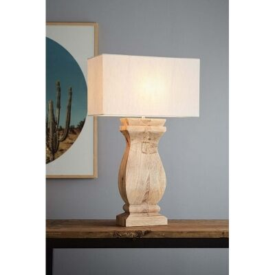 George Wooden Ballister Table Lamp