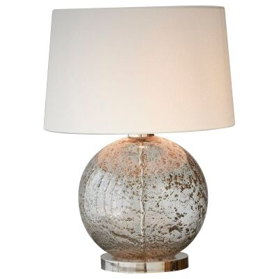 Lustre Glass Table Lamp, Ball, Clear