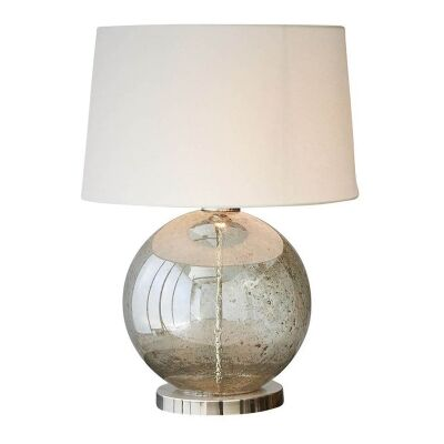 Lustre Glass Table Lamp, Ball, Pale Green