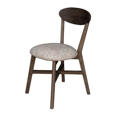 Lineo Reclaimed Timber Dining Chair, Cushion Seat