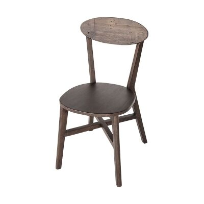 Lineo Reclaimed Timber Dining Chair, Timber Seat