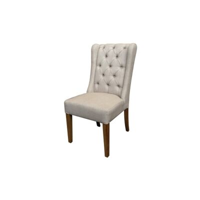 Stonington Fabric Wing Back Dining Chair, Flaxen