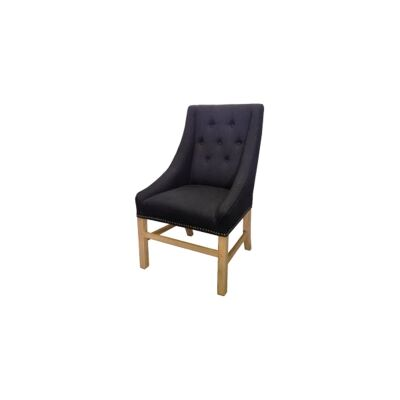 Wellesley Fabric Dining Chair, Black