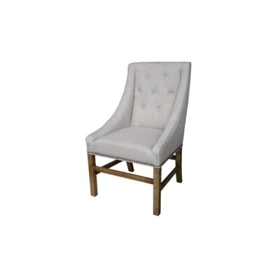 Wellesley Fabric Dining Chair, Flaxen