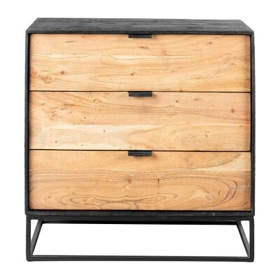 Luca Metal & Timber 3 Drawer Chest