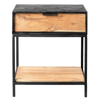 Luca Metal & Timber Bedside Table