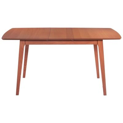 Knox Beech Timber Extension Dining Table, 120-150cm, Blackwood