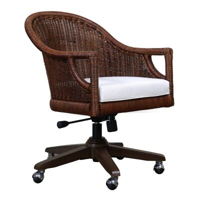 Barbados Rattan Seat Office Chair