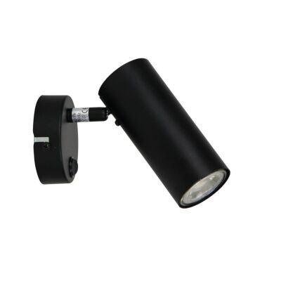 Ultra Switched Metal Wall Light, Black