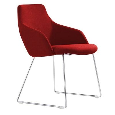 Oscar Fabric Breakout Chair, Red