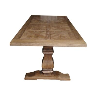 Fauchey Reclaimed Elm Timber Pedestal Dining Table, 200cm, Natural