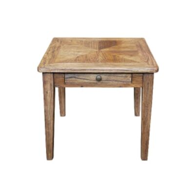 Auberge Parquetry Reclaimed Elm Timber Side Table