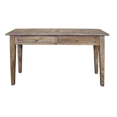 Auberge Parquetry Reclaimed Elm Timber Hall Table, 140cm
