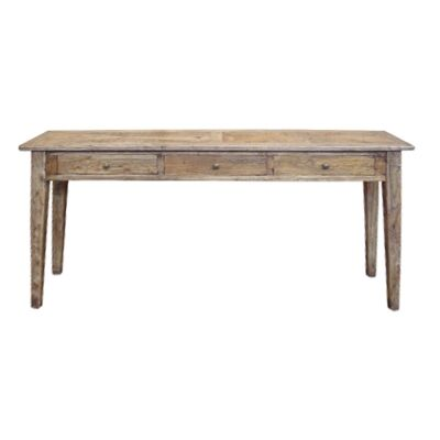 Auberge Parquetry Reclaimed Elm Timber Hall Table, 180cm