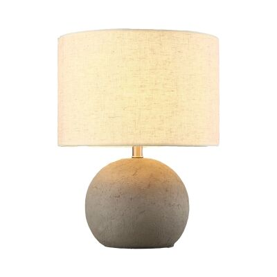 Roca I Cement Base Table Lamp