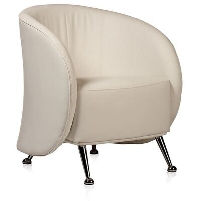 Ruby PU Leather Armchair, White