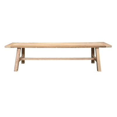 Tiance II Reclaimed Elm Timber Dining Bench, 180cm