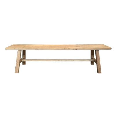 Tiance Reclaimed Elm Timber Dining Bench, 180cm