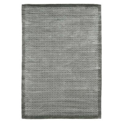 Luxe Hand Loomed Spotted Rug, 250x350cm, Steel