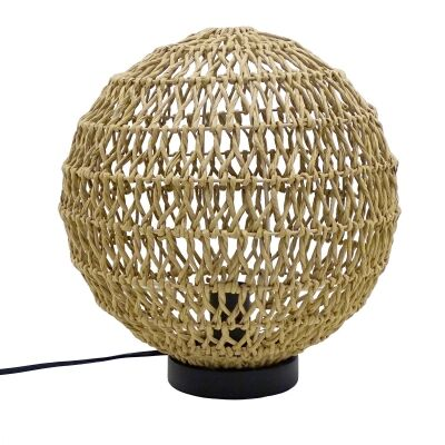 Marcory Raffia Paper Table Lamp, Natural