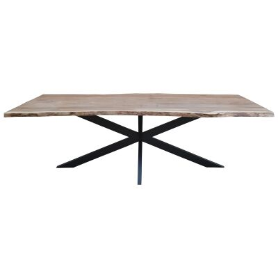 Condell Acacia Timber & Metal Dining Table, 240cm