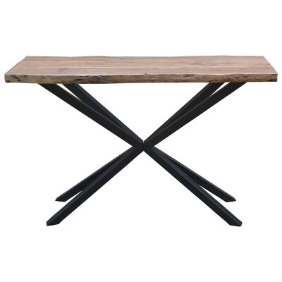Condell Acacia Timber & Metal Console Table, 120cm