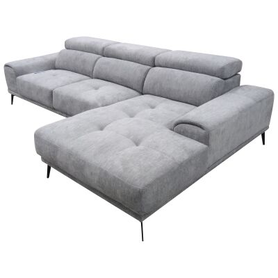 Milperra Fabric Corner Sofa, 2.5 Seater with RHF Chaise, Pewter