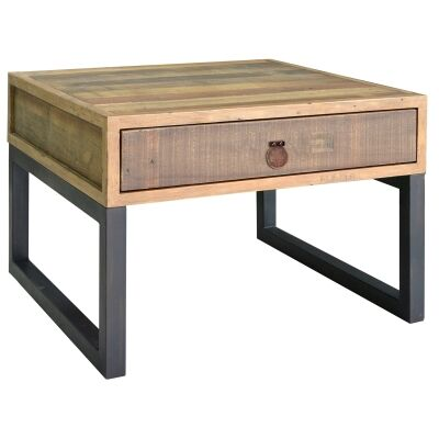 Woodenforge Reclaimed Timber & Metal Side Table
