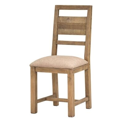 Woodenforge Reclaimed Timber Dining Chair, Cushion Seat