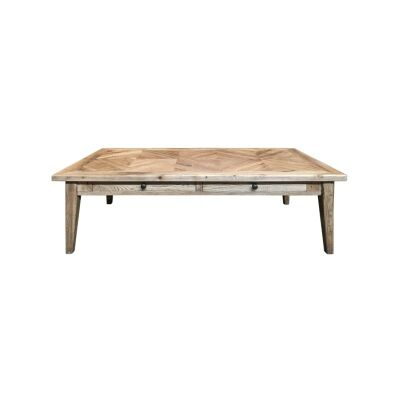 Ardentes Oak Timber 2 Drawer Coffee Table, 140cm
