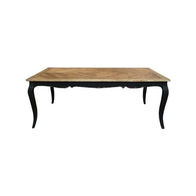 Rosiers Reclaimed Timber French Dining Table, 200cm