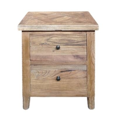 Morocco Reclaimed Elm Timber Bedside Table