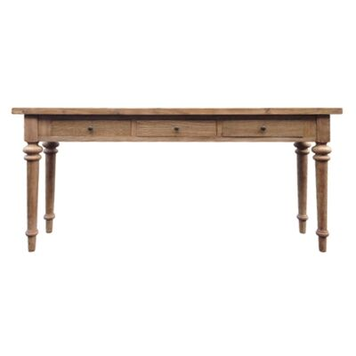 Morocco Reclaimed Elm Timber Hall Table, 180cm