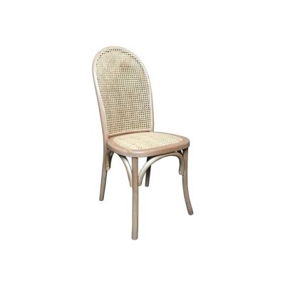 Luant Timber & Rattan Dining Chair, Natural