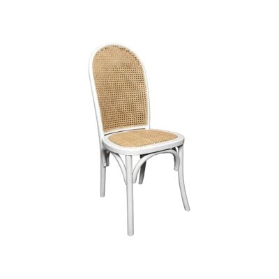 Luant Timber & Rattan Dining Chair, White