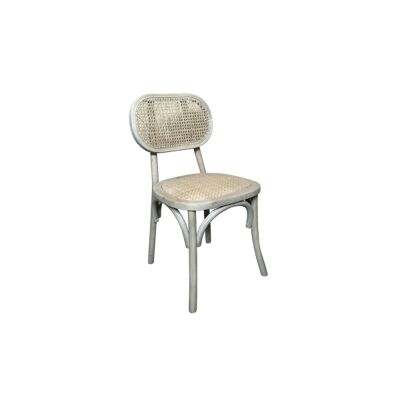 Fauste Elm Timber & Rattan Dining Chair