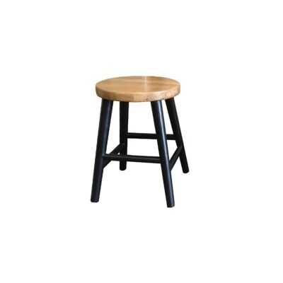 Lavialle Oak Timber Table Stool, Natural / Black