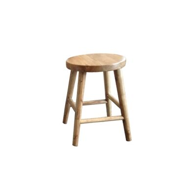 Lavialle Oak Timber Table Stool, Natural