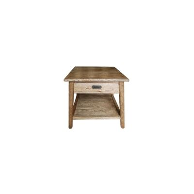 Lavialle Oak Timber Lamp Table