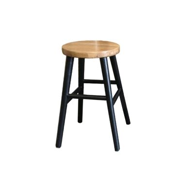 Lavialle Oak Timber Counter Stool, Natural / Black