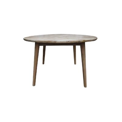 Lavialle Oak Timber Round Dining Table, 120cm