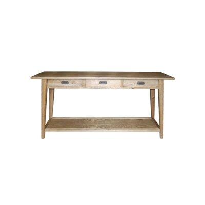 Lavialle Oak Timber Console Table, 160cm