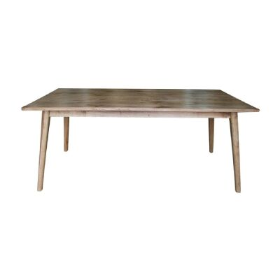 Lavialle Oak Timber Dining Table, 220cm