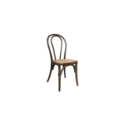Maillet Stackable Bentwood Dining Chair, Walnut
