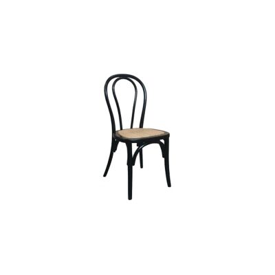 Maillet Stackable Bentwood Dining Chair, Black